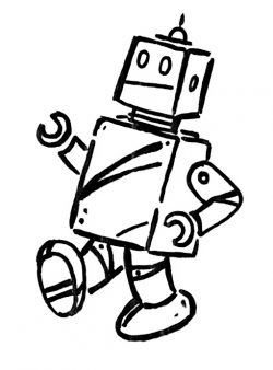 drawing of robot