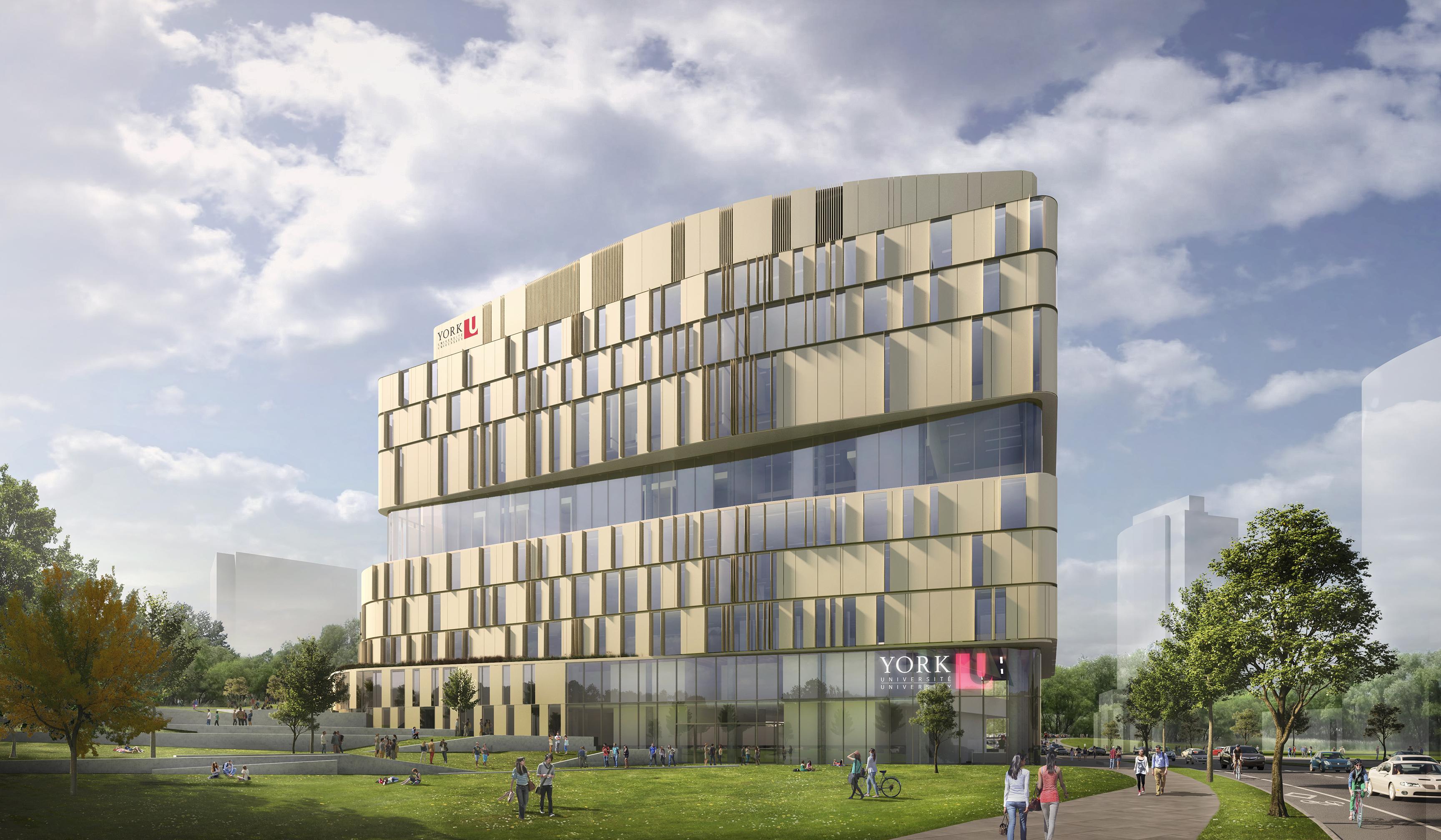 architect rendering of York University's Markham Centre campus